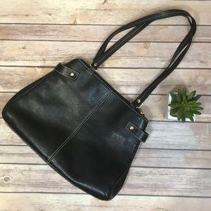 Etienne Aigner Leather Black Handbag
